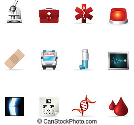"Web Icons - More Medical - ""Medical icon set. EPS 10 with..."