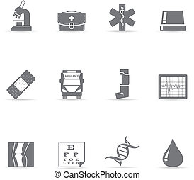 Single Color Icons - More Medical - Medical icon set EPS 10...
