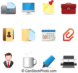 Web Icons - Office - Office icon set. EPS 10 with gradient...