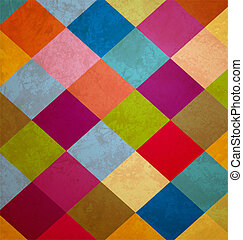 colorful grunge squares background