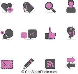 Duotone Icons - Social Network - Social network icon set EPS...