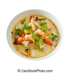 Thai Food Tom Yum Goong - Tom Yum Goong is spicy soup with...