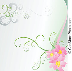 pink flowers on white background vector image