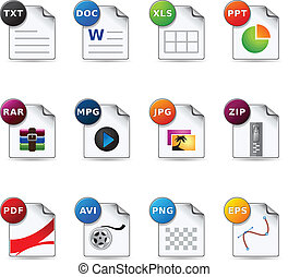 Web Icons - File Formats 4 - File formats icon set EPS 10...