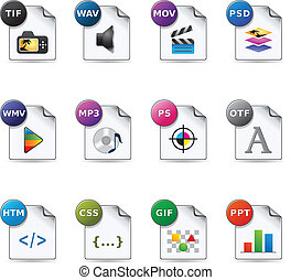 Web Icons - File Formats 5 - File formats icon set EPS 10...