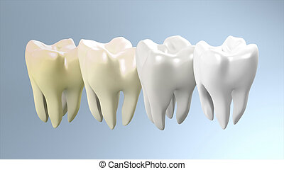 tooth step to be white process - The process of health white...