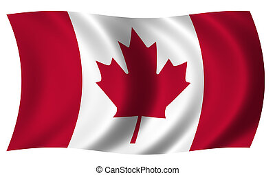 Flag of Canada in wave