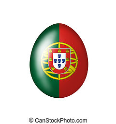 Portuguese egg - Easter egg with portugisischer flag on a...