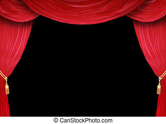 concert hall - Red curtain of a classical theater