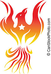 phoenix bird fire - illustration of phoenix bird fire