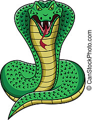 king cobra cartoon - illustration of king cobra cartoon