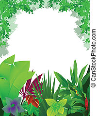 beautiful forest background - illustration of beautiful...