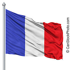 Flag of France - France national flag waving in the wind