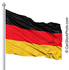 Flag of Germany - Germany national flag waving in the wind