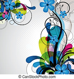 colorful happy floral design - an abstract and colorful...