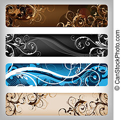 floral vector designs banner - abstract floral designs for...