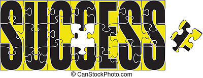 Success Puzzle - Illustration of a jigsaw puzzle with the...