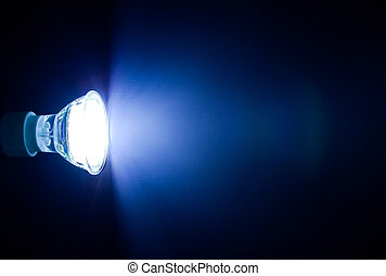 Beam of led lamp  - Blue beam of led lamp