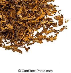 tobacco - Cut and dried different sorts kinds tobacco leaves...