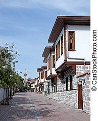 tradicional, Casas, turco