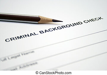 Criminal background form