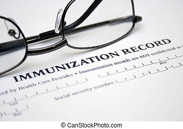 inmunización, Registro