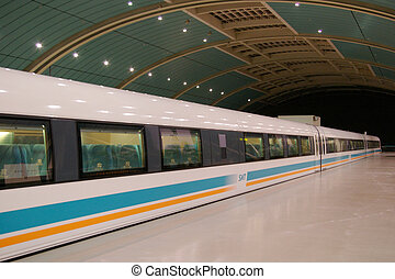 Shanghai bullet train in China