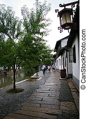Zhujiajiao water village in Shanghai, China.