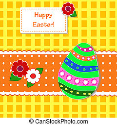 background with holiday Easter eggs