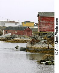 fishing stages in Newfoundland