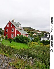 red house Trinity, Newfoundland - red house in the outport...