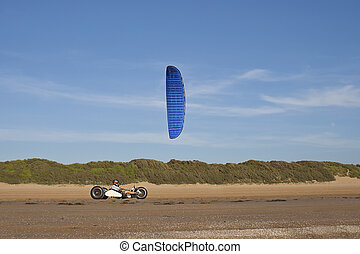 Kite Buggying - kite buggying a new and modern summer sport
