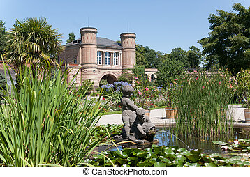 the bontanical garden of karlsruhe in germany