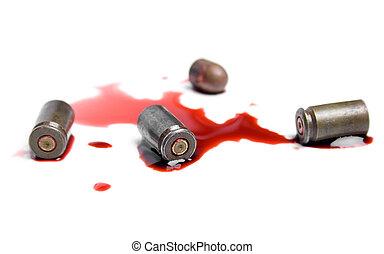 balas, sangre