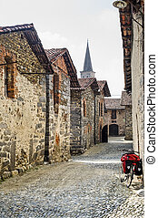 Ricetto of Candelo (Italy) with bicycle - Ricetto of Candelo...