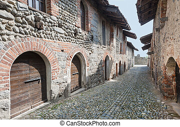Ricetto of Candelo (Biella, Piedmont, Italy) - Typical...
