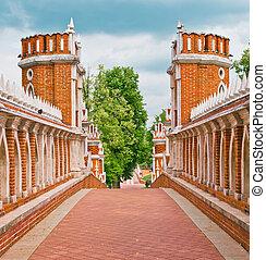 Tsaritsino palace Bridge - Bridge in Tsaritsino, Moscow,...