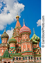 Saint Basil's Cathedral in Moscow, Russia, East Europe