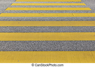 pedestrian crossing in yellow