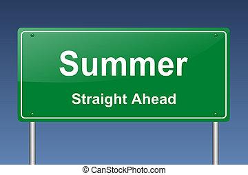 summer traffic sign