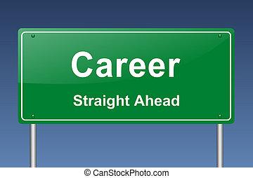 career traffic sign
