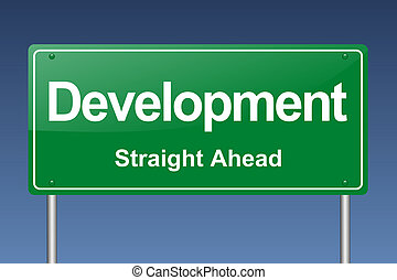development traffic sign