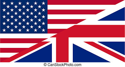 American and British English language icon - isolated vector...