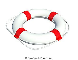 Lifebuoy Isolated on white background