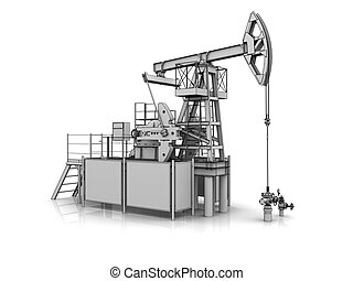 3D model of the oil pump jack