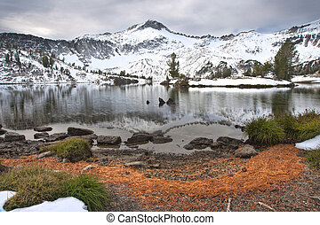 Alpine Lake, Wallowa Mountains, Oregon - High alpine lake in...