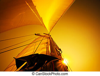 Sail over sunset