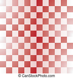 Seamless red-white checkered pattern