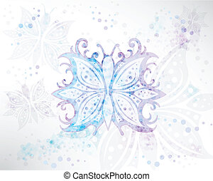 Background Abstract Butterfly - Illustration vector...