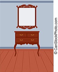 Antique dresser - Vintage furniture illustration